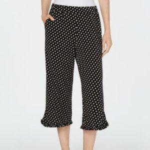 Michael Kors Slice Dot Ruffle Pants